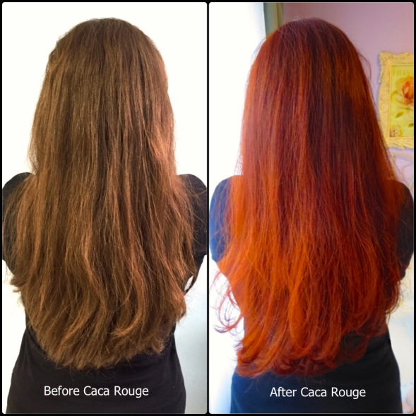Caca Rouge Before and After