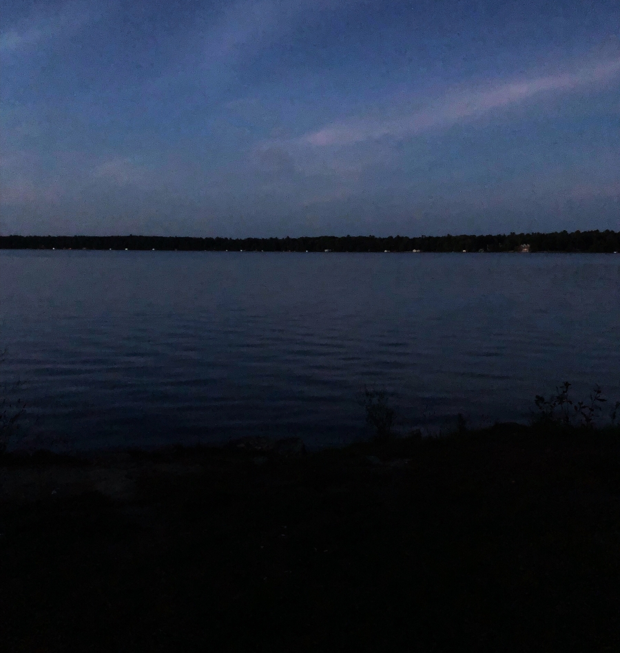 Balsam lake evening