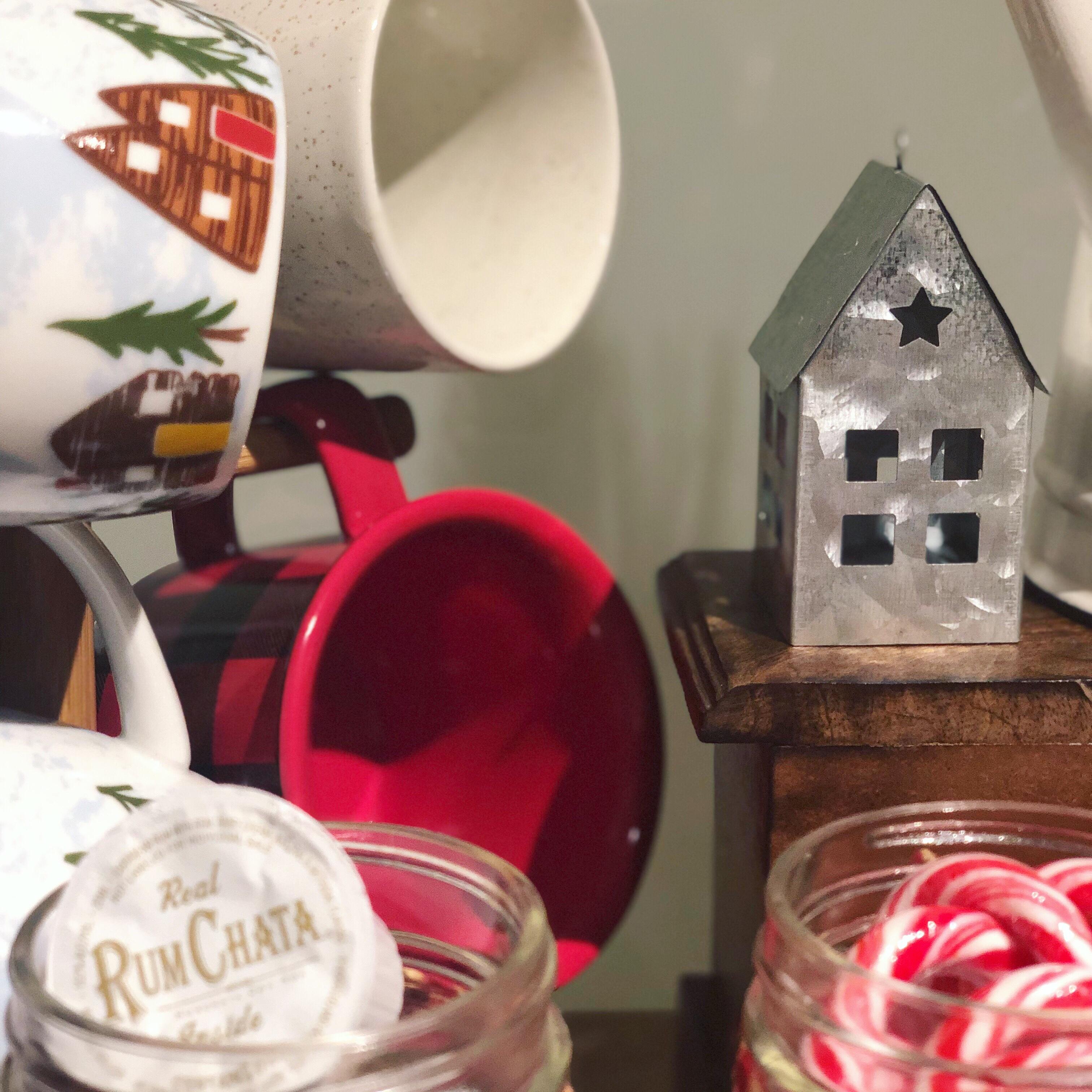 Christmas tin house