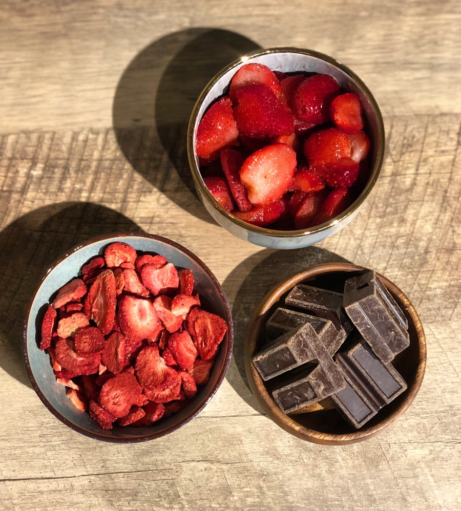 Chocolate and strawberries