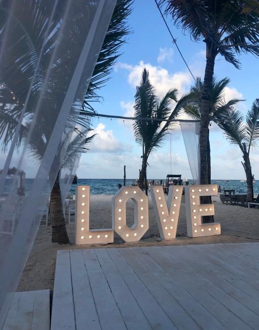 LOVE Sign Destination Wedding