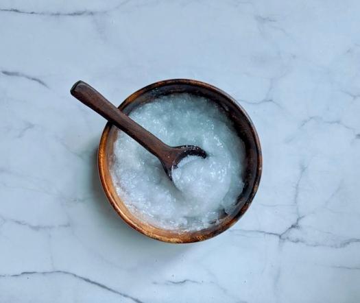 Coconut Oil and Sugar scrub
