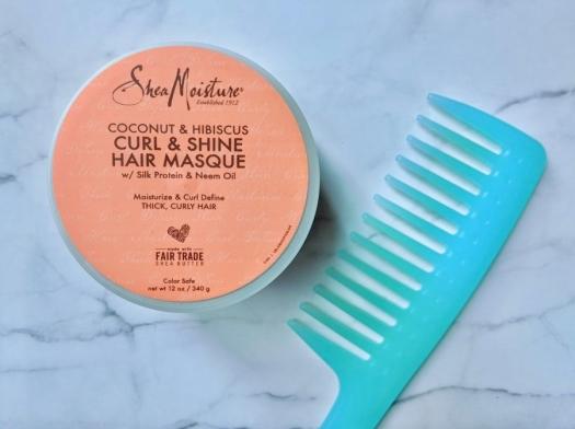 Shea Moisture Coconut & Hibiscus Curl and Shine Hair Masque